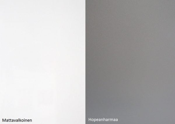 Alumocci matta valkoinen - hopean harmaa