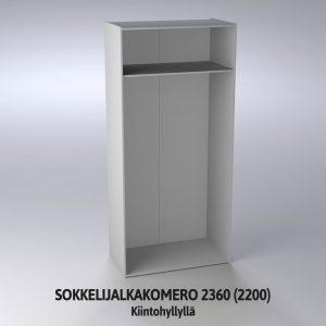 Sokkelijalkakomero 2360 (2200) runko