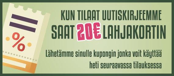 20€ lahjakortti kun tilaat keittötuning uutiskirjeen!