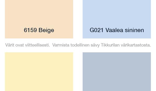 Kalusteovien värikartta