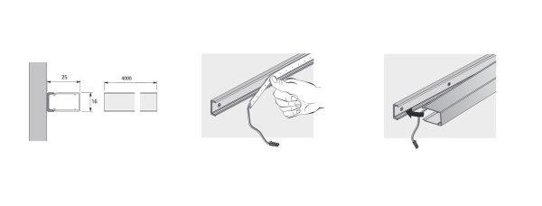 ChannelLine A valoprofiili LED-nauhalle asennus